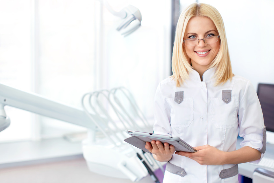 Young doctor in a dental clinic